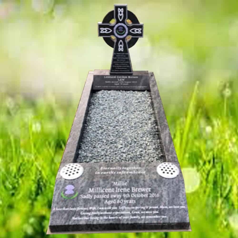 kerbset memorial in churchyard